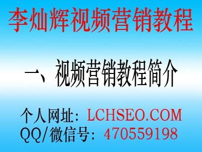 李灿辉全套网络视频推广营销教程(一)