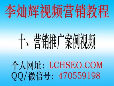 李灿辉全套网络视频推广营销教程(十)